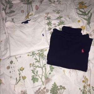 Two Ralph Lauren long sleeve tops